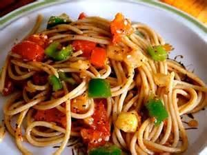 Summer spaghetti salad from food storage shelf!