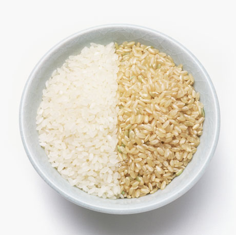 White and Brown Rice