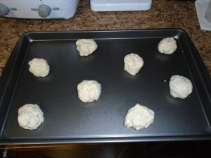 drop onto cookie sheet and bake