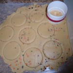 cut out round cookie shapes