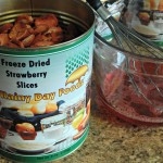 add freeze dried strawberries