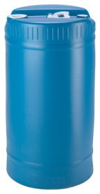 15 gallon blue water storage drum
