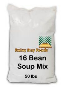 Rainy Day Foods 16 bean mix 50 lbs bag