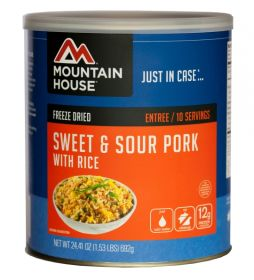 Mountain House freeze dried sweet and sour pork with rice