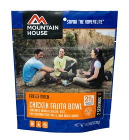 Mountain House Chicken Fajita Bowl - M121 - mylar pouch