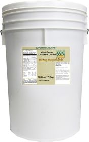 Rainy Day Foods 9 grain cracked cereal in super pail bucket 38 lbs