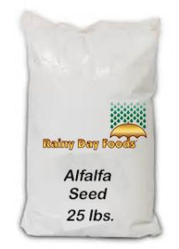 Alfalfa seed for sprouting in 25 lbs bag