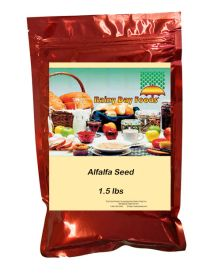 Alfalfa seed for sprouting in 1.5 lbs mylar bag