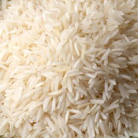 White Basmati Rice in 25 lbs bag.
