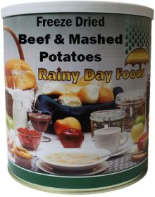 Rainy Day Foods freeze dried beef and mashed potatoes #10 can