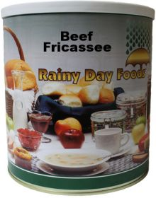 #10 can beef fricassee of dehydrated vegetables