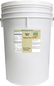Brown rice in super pail 43 lbs.