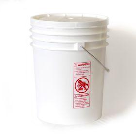 5 gallon plastic bucket w/gasket lid