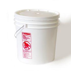 4.25 gallon plastic bucket w/gasket lid