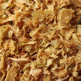 Dehydrated cabbage flakes in #10 case of 6 cans
