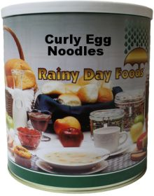 Rainy Day Foods curly egg noodles #10 can