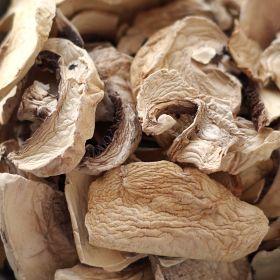 Dehydrated mushroom in #10 case