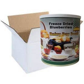 Freeze dried blueberries whole in case of 6 #10 cans