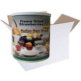 Freeze dried strawberry slices in #2.5 case