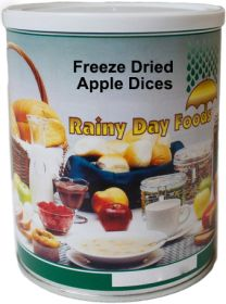 #2.5 can freeze dried apple dices 3 oz.