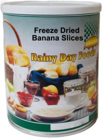 #2.5 can freeze dried banana slices-4 oz