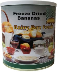 #10 can freeze dried banana slices-14 oz