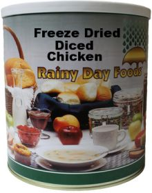 #10 can freeze dried diced chicken meat 17 oz.