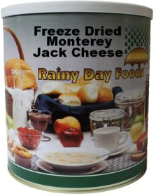#10 can freeze dried monterey jack cheese