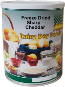 #2.5 can freeze dried sharp cheddar cheese 10 oz.