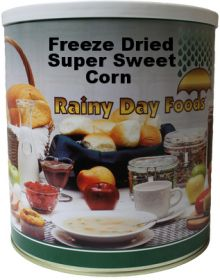 #10 can freeze dried sweet corn 20 oz.