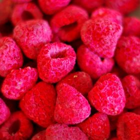 Freeze dried raspberries whole in case of 6 #10 cans