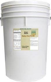 Dehydrated green beans in a 6 gallon super pail