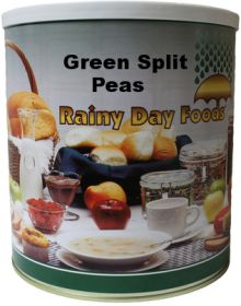 #10 can green split peas  92 oz.
