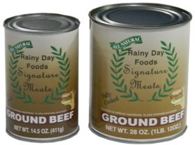 ground beef in 28 oz can