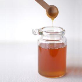 honey in a 45 lb. bucket