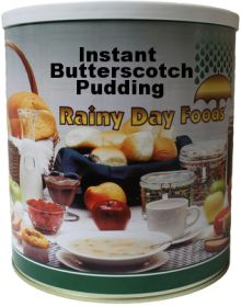 Rainy Day Foods butterscoth pudding #10 can 76 oz.