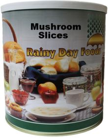 Rainy Day Foods dehydrated mushrooms #10 can 9 oz.