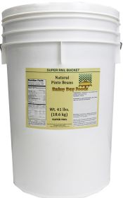 Natural pinto beans in a super pail 41 lbs.