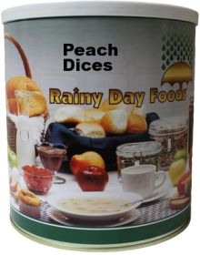 #10 can dehydrated peach dices 52 oz.