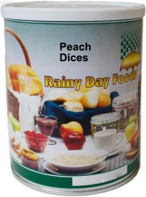 #2.5 can dehydrated peach dices 14 oz.