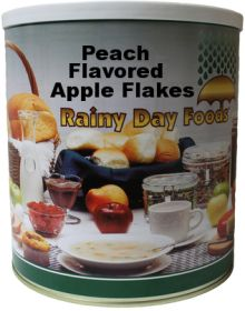 #10 can dehydrated peach flavored apple flakes 40 oz.