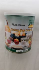 Dehydrated Plum Dices - G106 - 10 oz #2.5 can