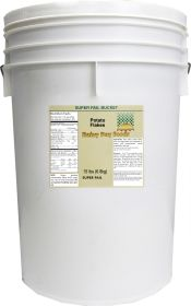 dehydrated potato flakes in 6 gallon super pail bucket