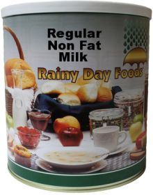 #10 can dehydrated regular milk-64 oz.