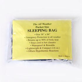 pocket size sleeping bag