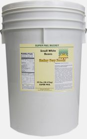 small white navy bean super pail