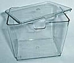 country living clear flour bin w/lid