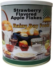 #10 can dehydrated strawberry flavored apple flakes-40 oz.