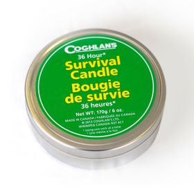 36 hour survival candle w/matches