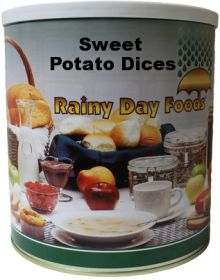 Rainy Day Foods sweet potato dices dehydrated #10 can
